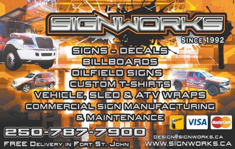 Creative Signworks Inc (250-787-7900) - Display Ad -