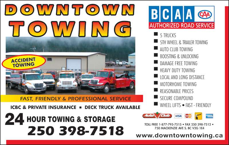Downtown towing williams lake bc 750 mackenzie ave s for 24 hour tanning salon near me