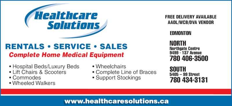 healthcare solutions   edmonton ab   5405 99th street nw