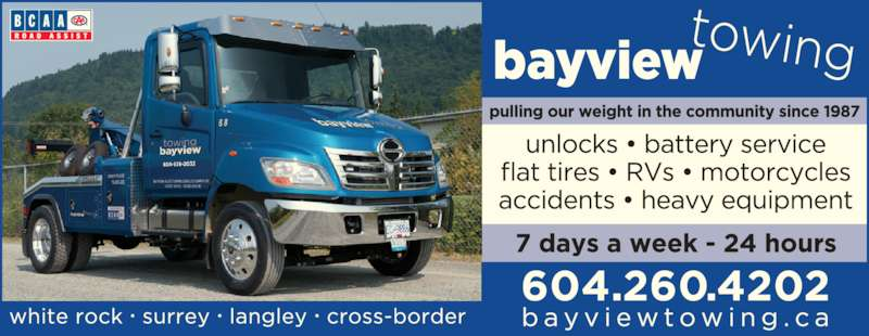 Bayview Auto Towing (2000) Ltd (6045382032) - Display Ad -