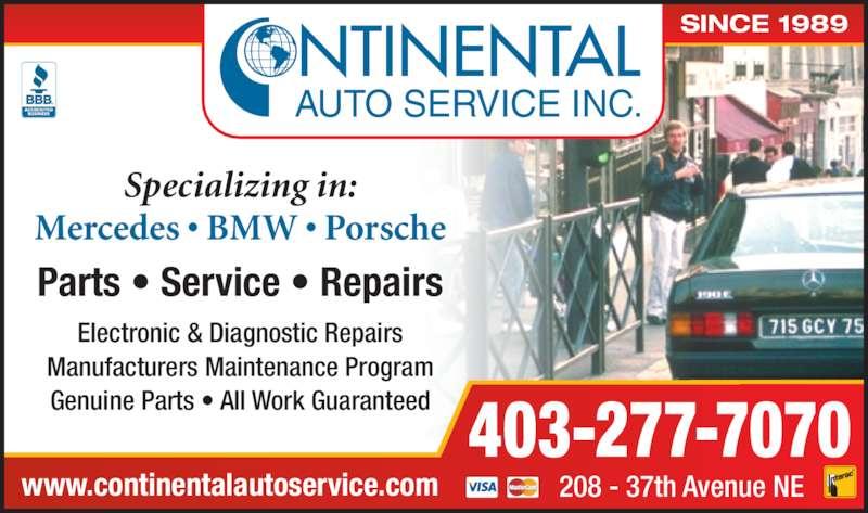ad Continental Auto Service Inc