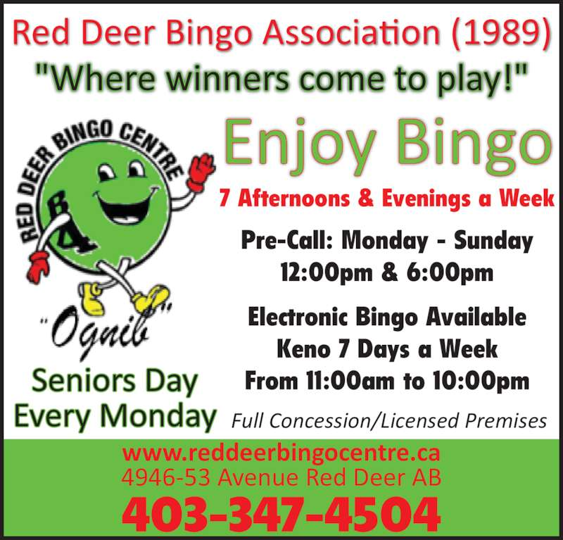 Red Deer Bingo