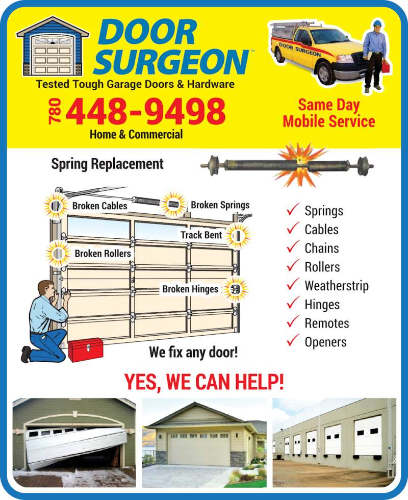 Door Surgeon (780-448-9498) - Display Ad -