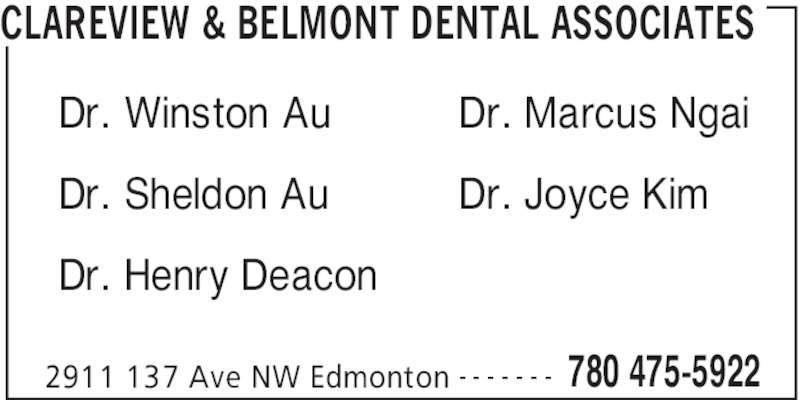 ad Clareview & Belmont Dental Associates