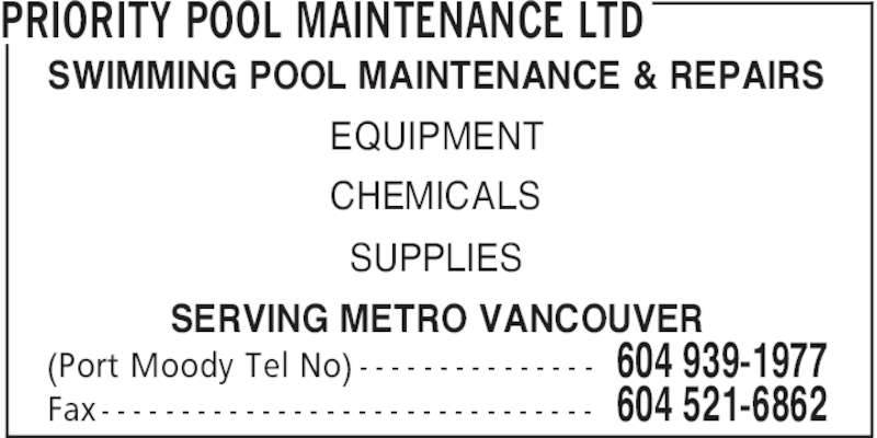 Priority Pool Maintenance Ltd Canpages