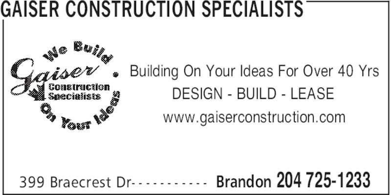 Image result for Gaiser Construction Specialists - Saskatchewan