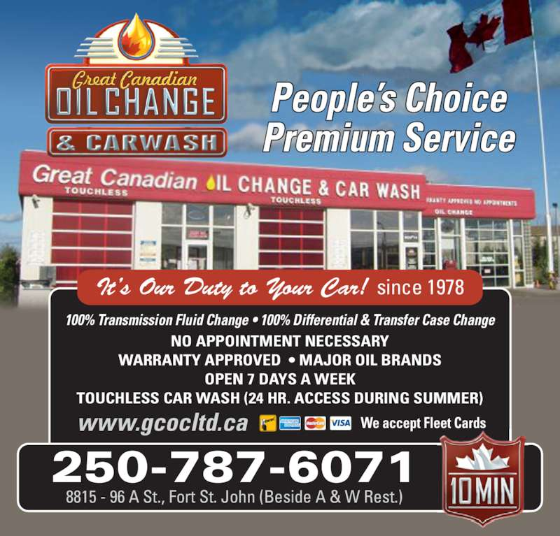 Differential Fluid Change >> Great Canadian Oil Change - Opening Hours - 8815 96A St ...