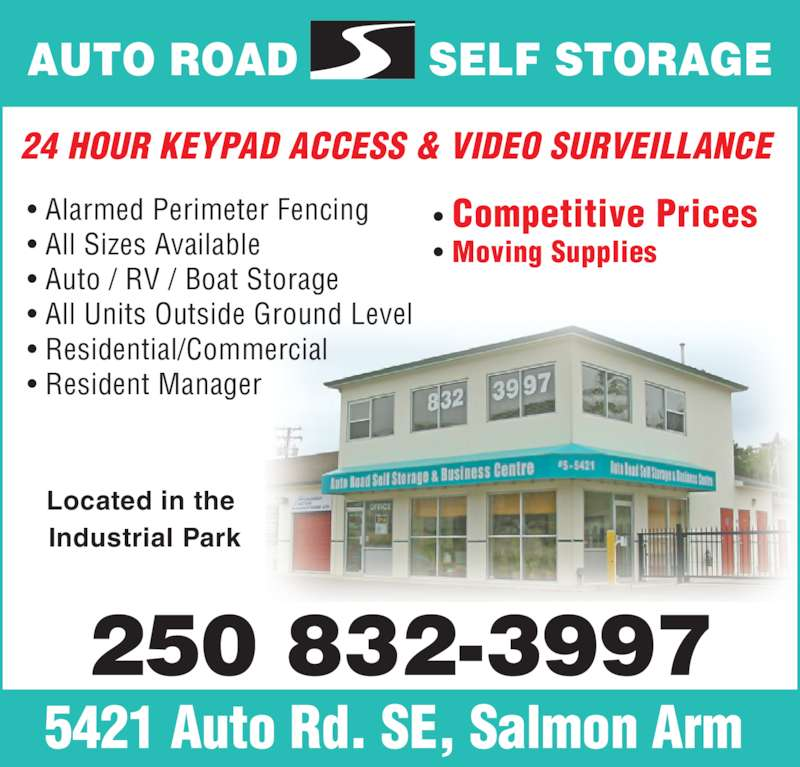 Auto Road Self Storage Salmon Arm Bc 5421 Auto Rd Se