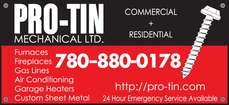 Pro-Tin Mechanical (780-880-0178) - Display Ad - 780-880-0178