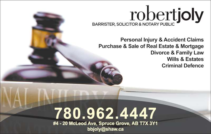 Joly Robert A Barrister Solicitor & Notary Public (7809624447) - Display Ad -