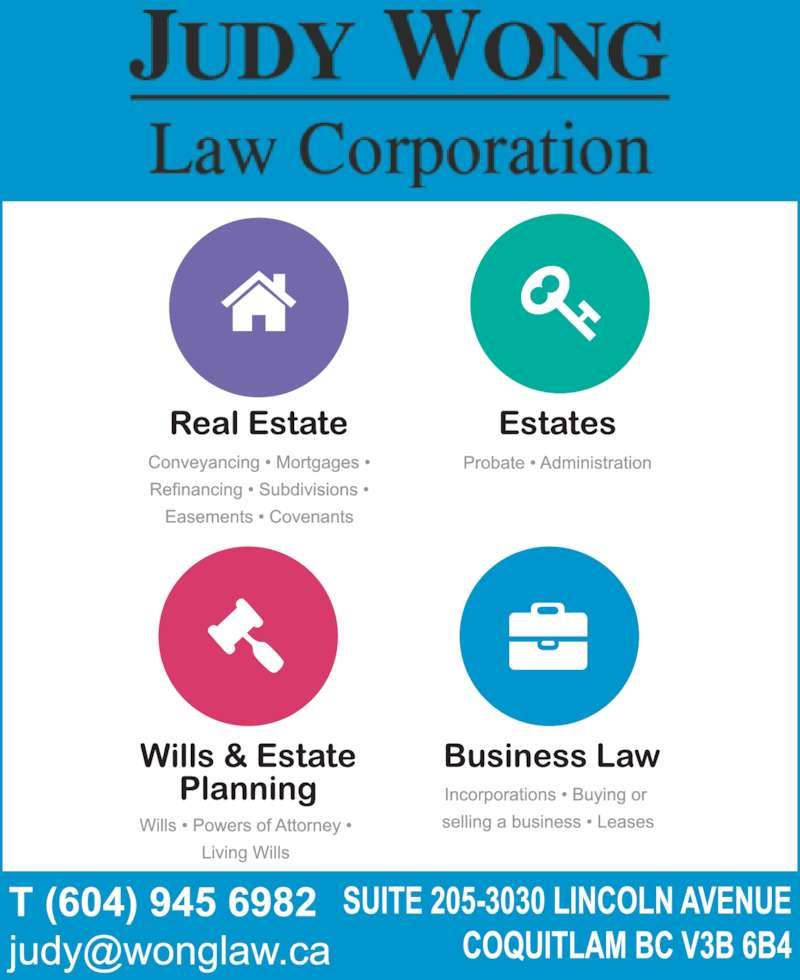 Wong Judy Law Corp (6049456982) - Display Ad -