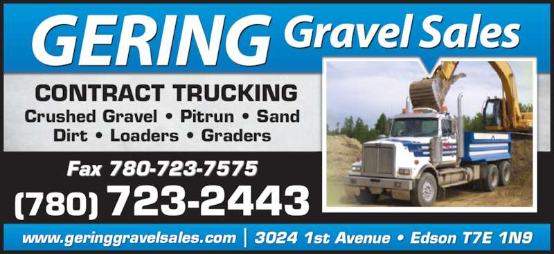ad Gering Gravel Sales