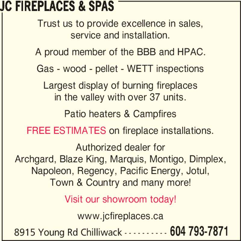 Fireplace Design regency fireplace dealers : JC Fireplaces & Spas - 8915 Young Rd, Chilliwack, BC