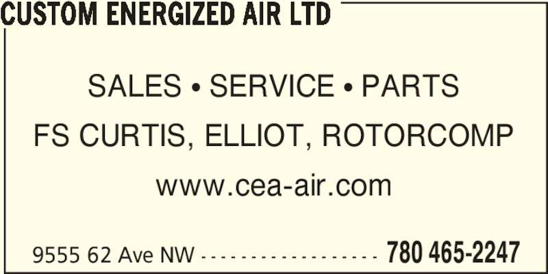Custom Energized Air Ltd (780-465-2247) - Annonce illustrée======= -