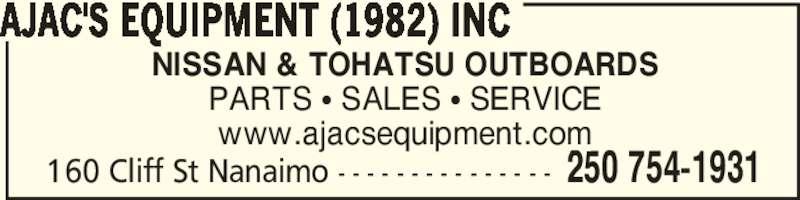 Ajac S Equipment 1982 Inc Nanaimo Bc 160 Cliff St