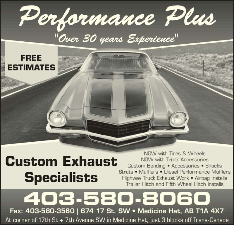 """Performance Plus (403-580-8060) - Display Ad - Performance Plus """"Over 30 years Experience"""" 403-580-8060 Fax: 403-580-3560 