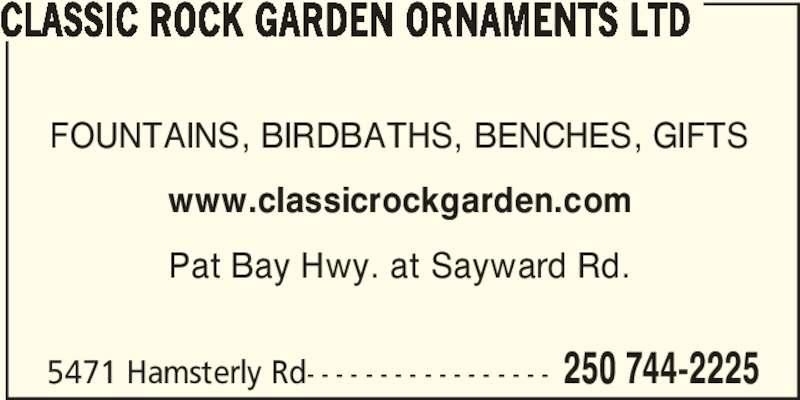 ad Classic Rock Garden Ornaments Ltd