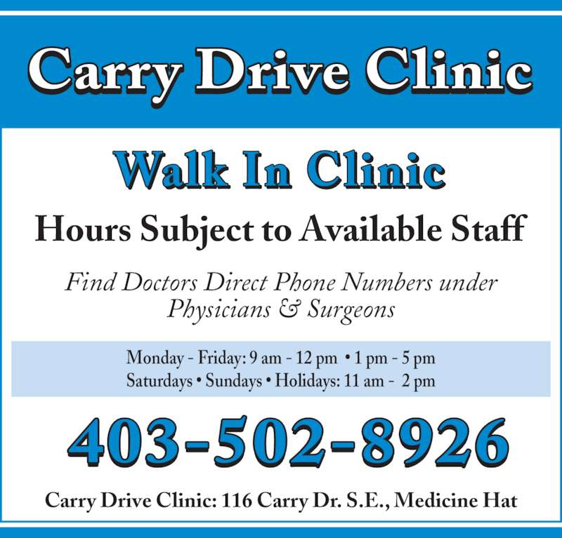 Ads Carry Drive Clinic