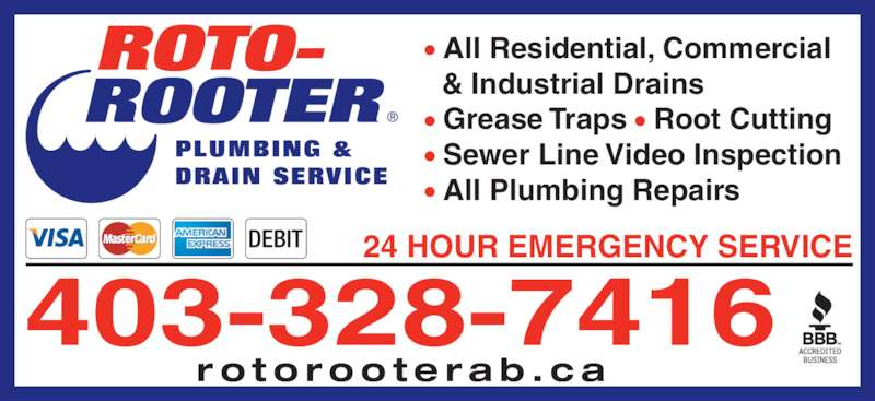 Roto-Rooter Plumbing & Drain Service - Lethbridge, AB - PO ...