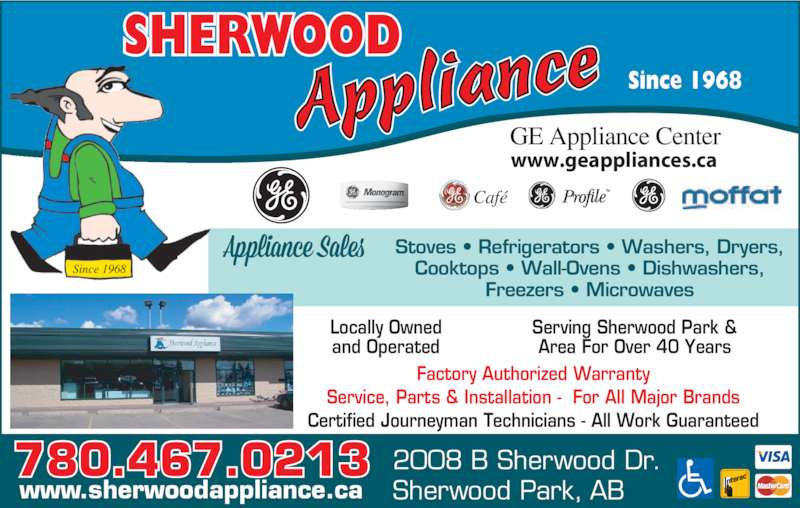 Sherwood Appliance Opening Hours 106 108 Provincial