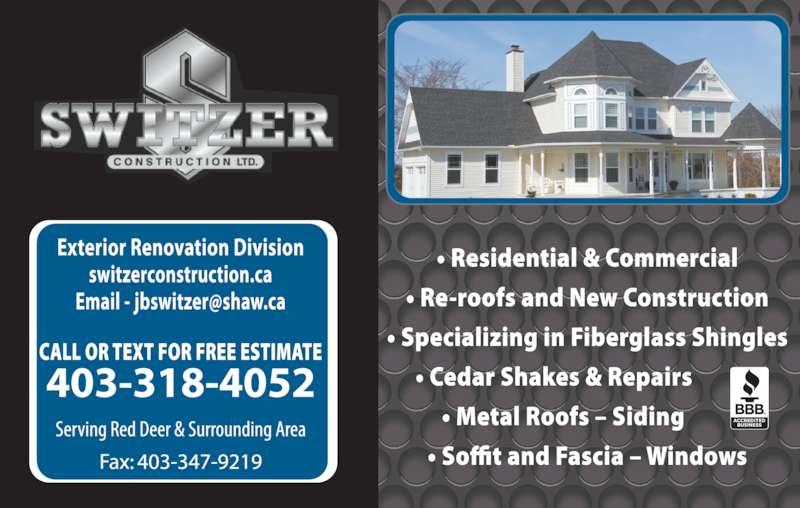 Switzer Construction Ltd (403-318-4052) - Display Ad -