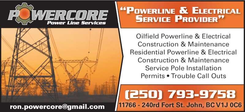 Powercore Power Line Services Ltd Fort St John Bc