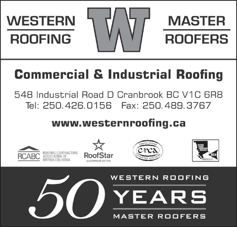 Western Roofing Master Roofers Ltd - Ads  sc 1 st  Canpages & Western Roofing Master Roofers Ltd - Cranbrook BC - 548 ... memphite.com