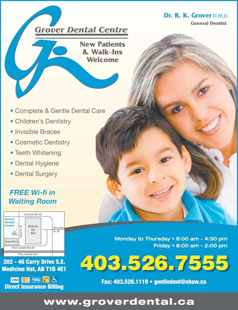 Grover Dental Centre (4035267555) - Display Ad - 403.526.7555