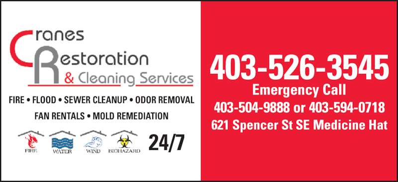 Crane's Restoration & Cleaning Services - Medicine Hat, AB ...