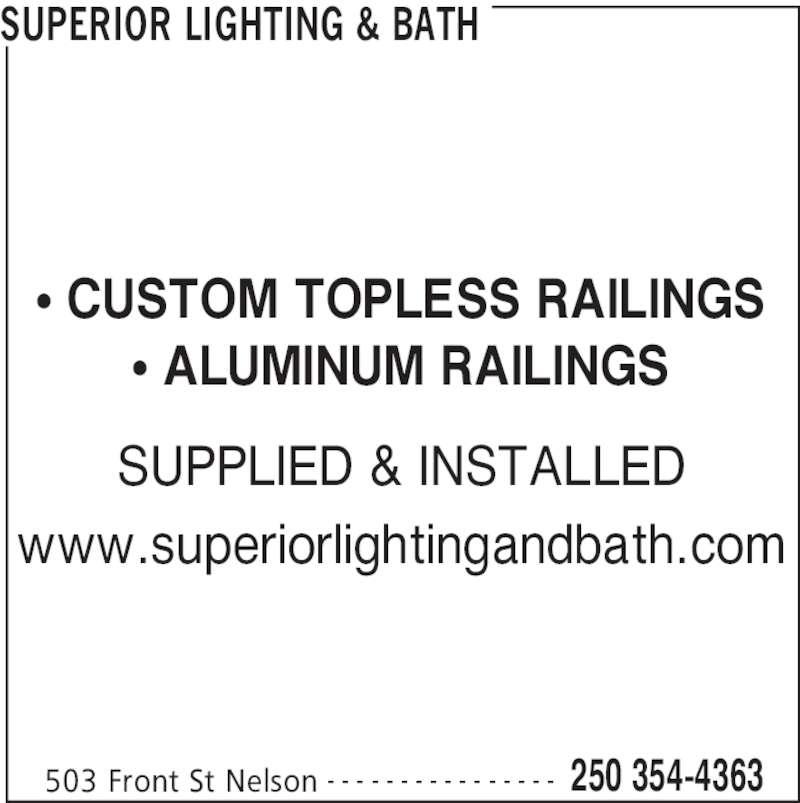 Superior Lighting Amp Bath Nelson Bc 503 Front St