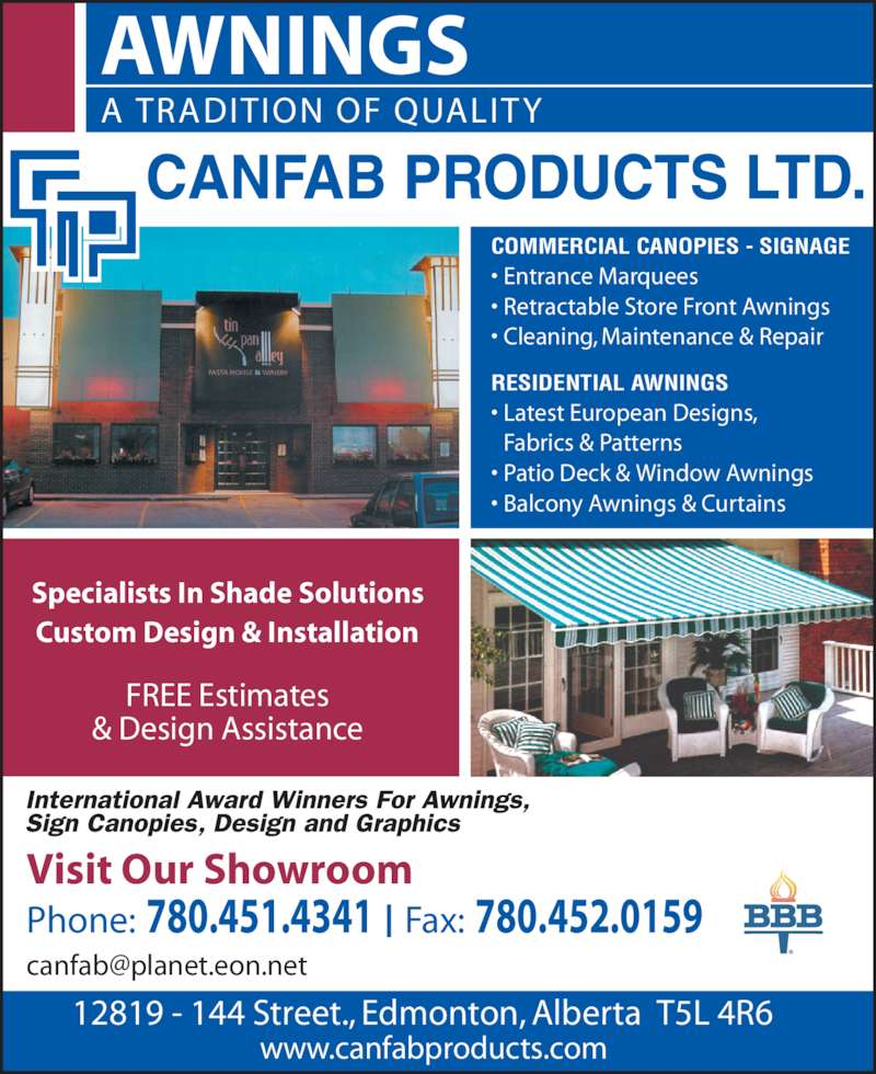 Canfab Products Ltd Opening Hours 12819 144th Street
