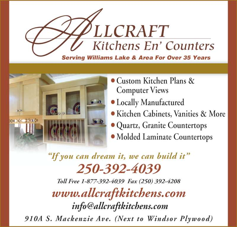 Allcraft Kitchens En Counters Opening Hours 910a