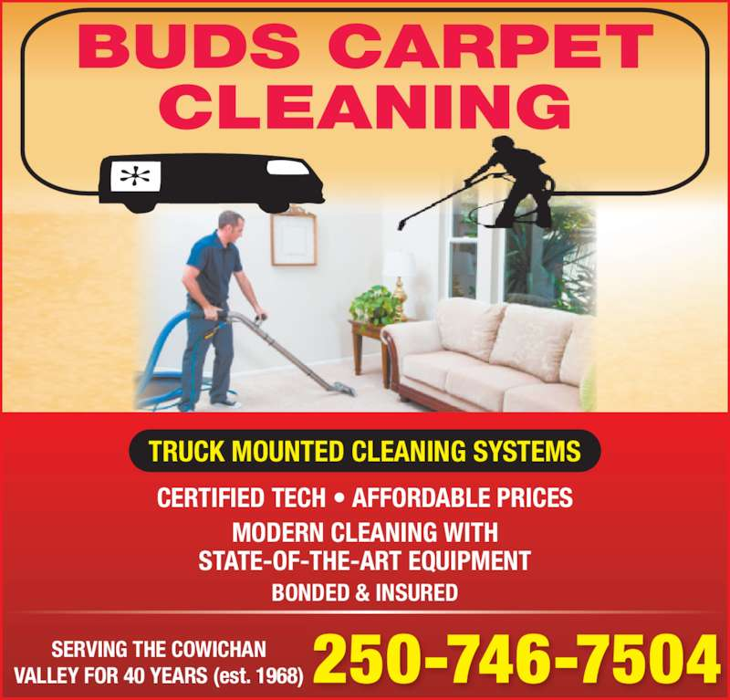 Bud's Carpet Cleaning - Duncan, BC - 481 Pine Ave | Canpages