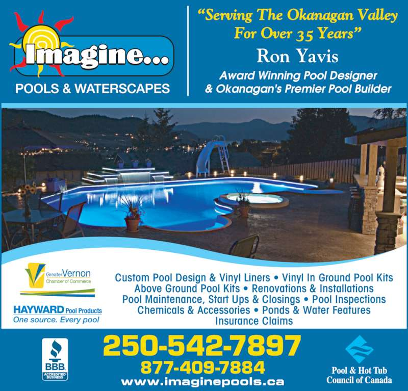 Imagine pools waterscapes vernon bc 6543 bella for Inground pool dealers near me