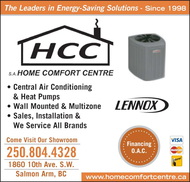 Home Comfort Centre Salmon Arm Bc 1860 10 Ave Sw