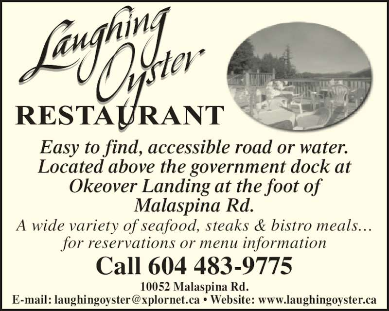 Laughing Oyster Restaurant Powell River Bc