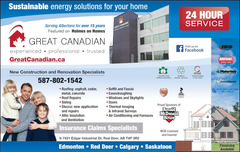 Great Canadian Roofing Corp Red Deer Ab 9 7421 Edgar