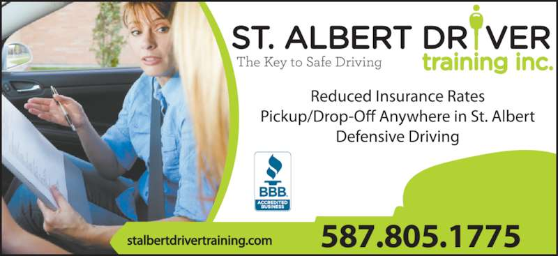 St Albert Driver Training Inc (780-470-3748) - Display Ad - 587.805.1775