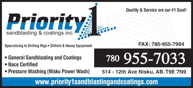 Overhead Cranes Nisku : Priority sandblasting coatings inc opening hours