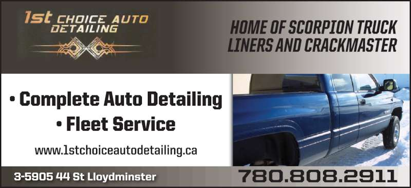 1st Choice Auto Detailing (780-808-2911) - Display Ad -