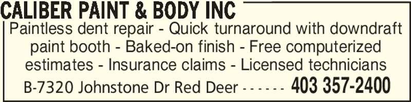 Ads Caliber Paint & Body Inc