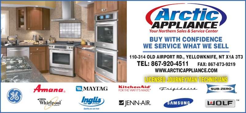 Arctic Appliance Service Ltd Yellowknife Nt 110 314