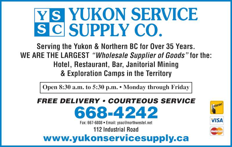 Language In 45 And 47 Stella Street: Yukon Service Supply Co