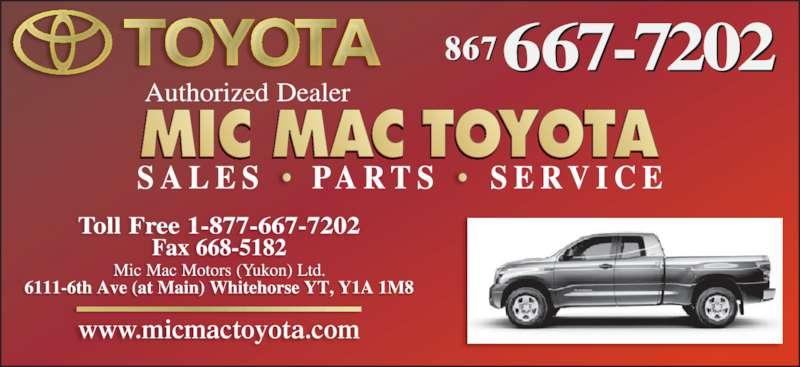 Mic Mac Toyota (8676677202) - Display Ad - www.micmactoyota.com