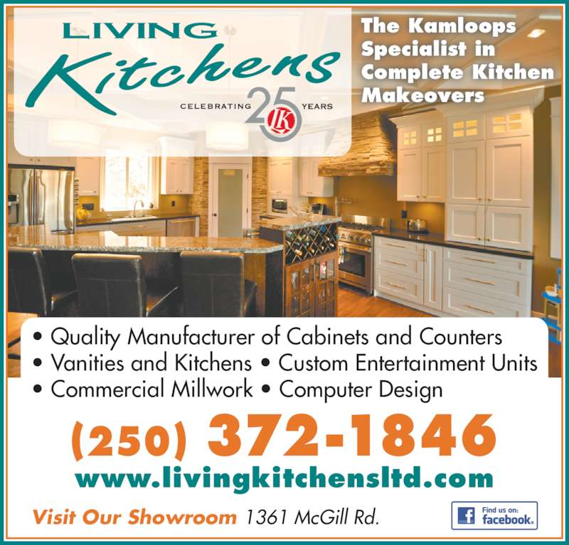 Living kitchens ltd opening hours 1361 mcgill rd for Kitchen cabinets kamloops