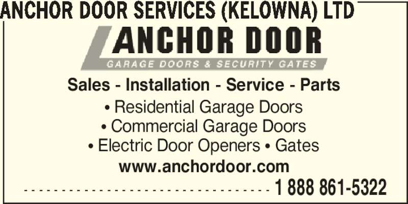 Anchor Door Services Ltd Kelowna Bc 11 1415 Hunter