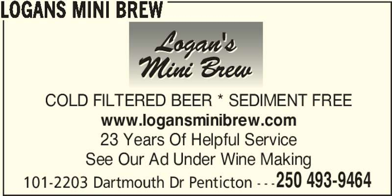 Logans Mini Brew Penticton Bc 101 2203 Dartmouth Dr