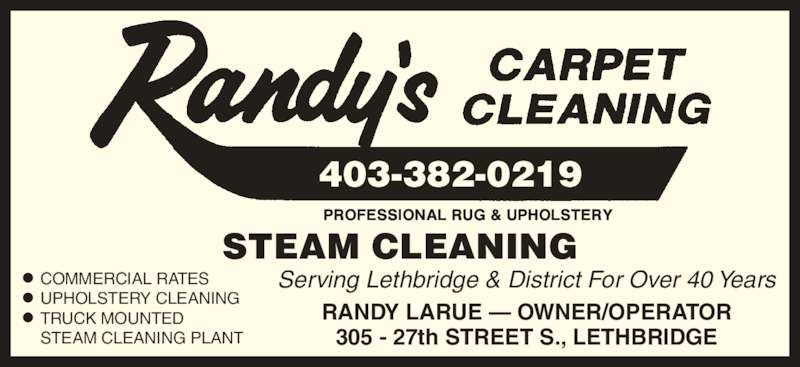 Randy S Carpet Cleaning Lethbridge Ab 305 27 St S