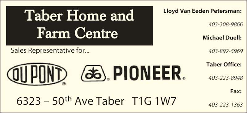 Taber Home Amp Farm Center Ltd Taber Ab 6323 50 Ave