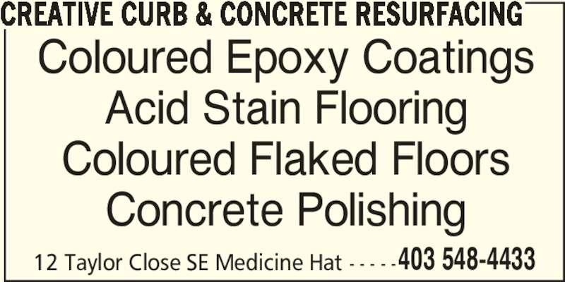 Creative Curb Amp Concrete Resurfacing Medicine Hat Ab